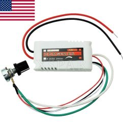 details about dc 12v pwm motor speed control controllor for fan pump oven blower w switch usa  [ 1000 x 1000 Pixel ]