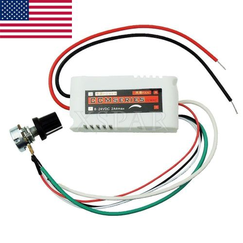 small resolution of details about dc 12v pwm motor speed control controllor for fan pump oven blower w switch usa