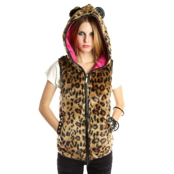 Abbey Dawn Avril Lavigne Rebel Yell Hoodie Vest