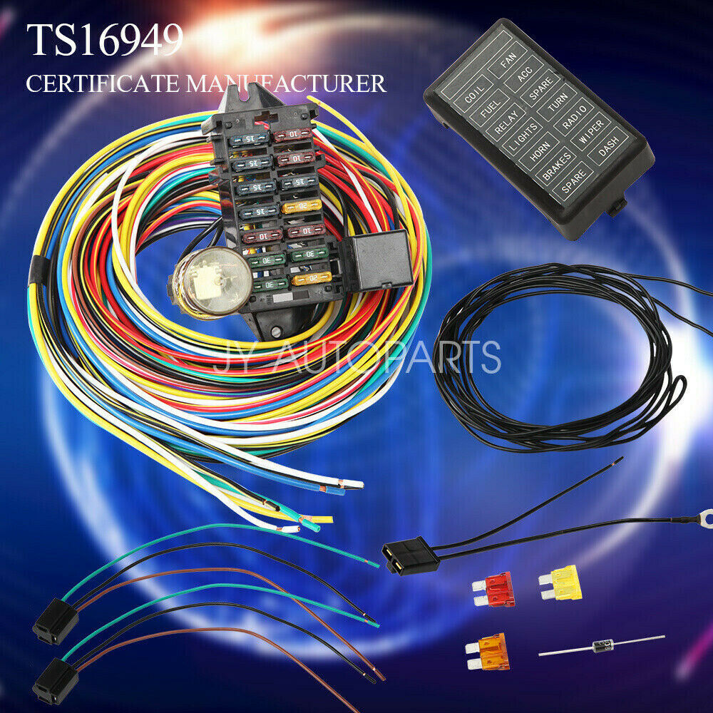 hight resolution of details about 12 14 circuit universal wiring harness muscle car hot rod street rod xl wires