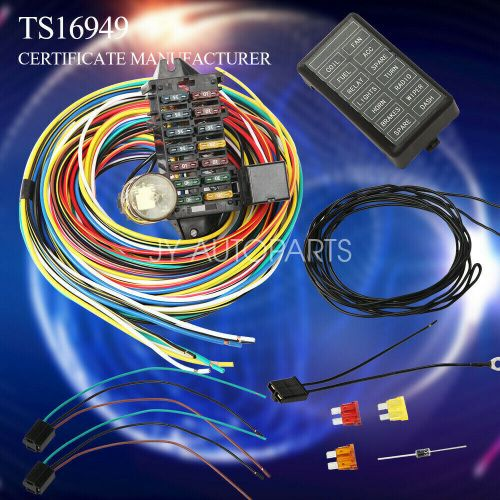 small resolution of details about 12 14 circuit universal wiring harness muscle car hot rod street rod xl wires