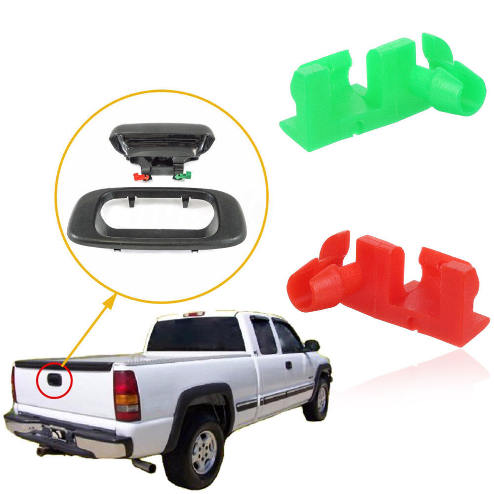 hight resolution of details about tailgate handle door lock rod rh lh clip for chevrolet silverado gmc sierra