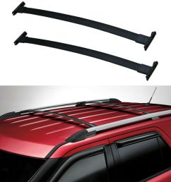details about 11 15 ford explorer roof rack cross bars oe style pair [ 1000 x 1000 Pixel ]