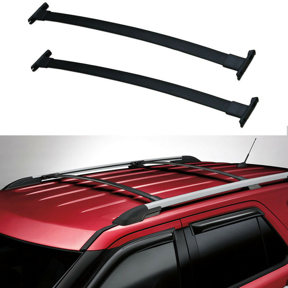 hight resolution of details about 11 15 ford explorer roof rack cross bars oe style pair