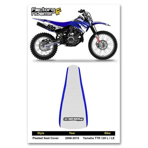 small resolution of 2008 2015 yamaha ttr 125 l le seat cover blue white pleated by enjoy mfg ebay