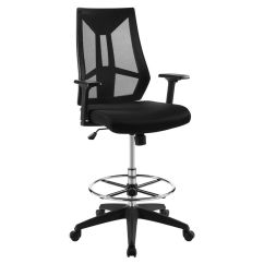 Mesh Drafting Chair Large Covers Wedding Extol In Black 889654137382 Ebay Details About