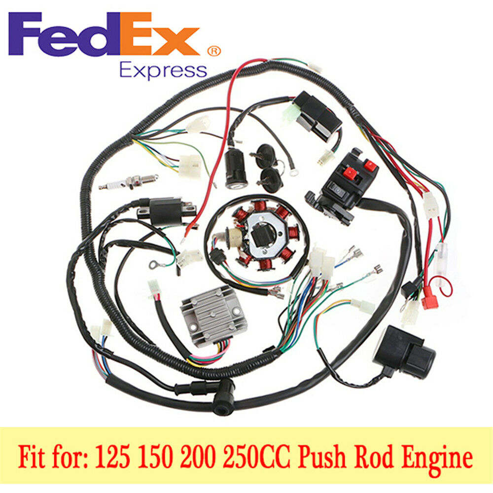 medium resolution of details about stator cdi coil electric wiring harness wire kit for motorcycle atv 125 150cc