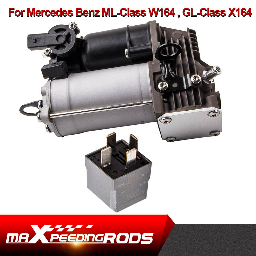 hight resolution of details about air suspension compressor pump with relay for mercedes benz x w164 1643201204