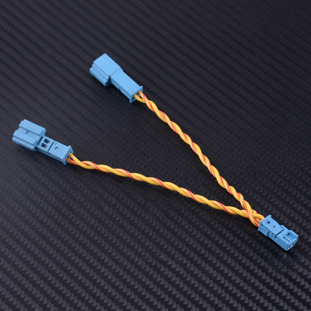 hight resolution of details about speaker stereo connector adapter wiring cable y harness splitter 2 pol fit bmw