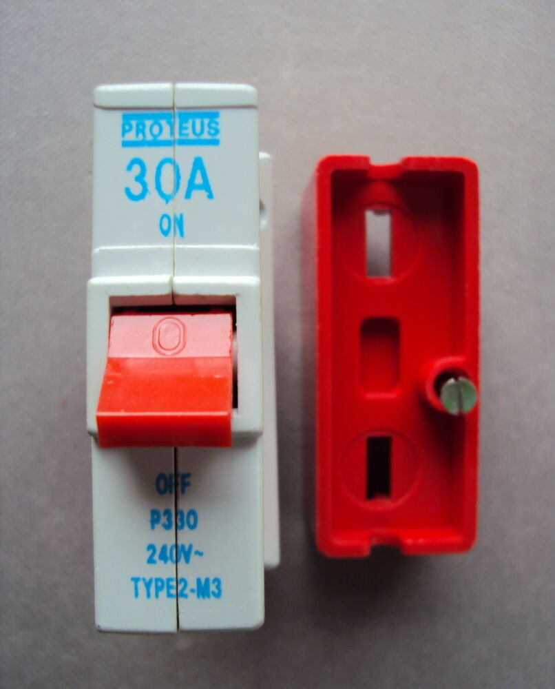 medium resolution of proteus plug in mcb 30 amp p330 30a type 2 m3 bs3871 with base fits wylex ebay