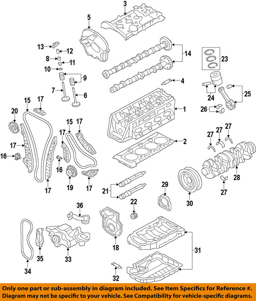 medium resolution of details about audi oem 09 17 a4 quattro engine timing chain guide 06h109509p