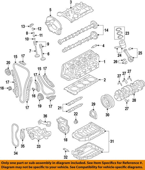 small resolution of details about audi oem 09 17 a4 quattro engine timing chain guide 06h109509p