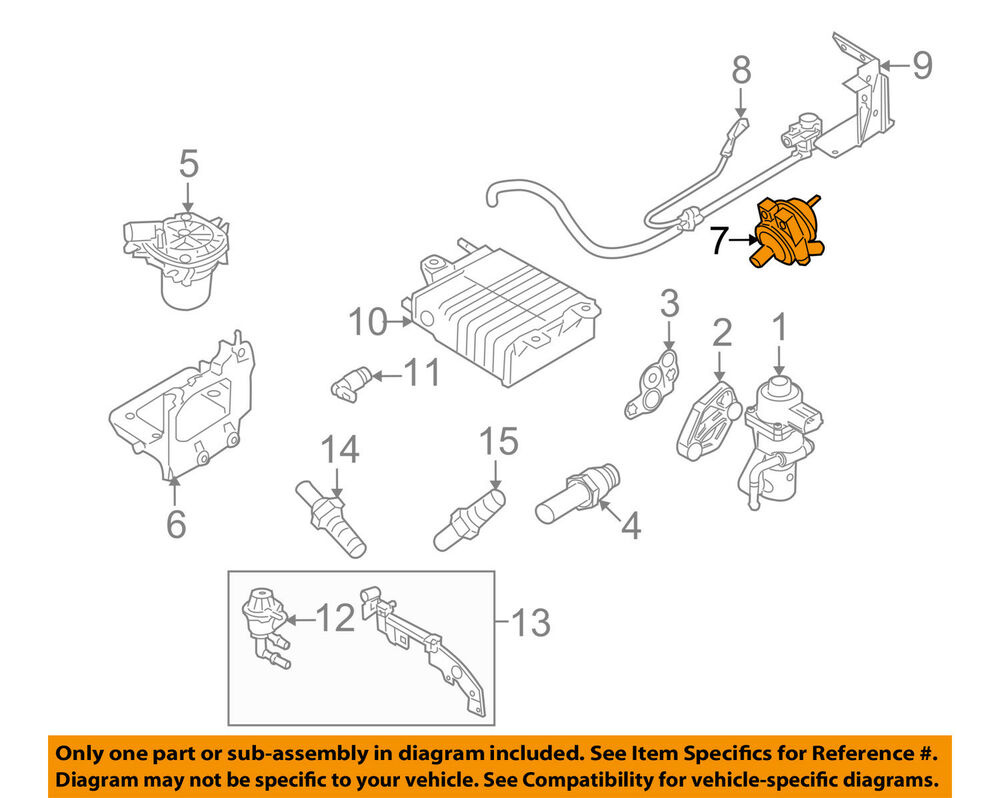hight resolution of details about ford oem 08 11 focus a i r system check valve 6s4z9f491a