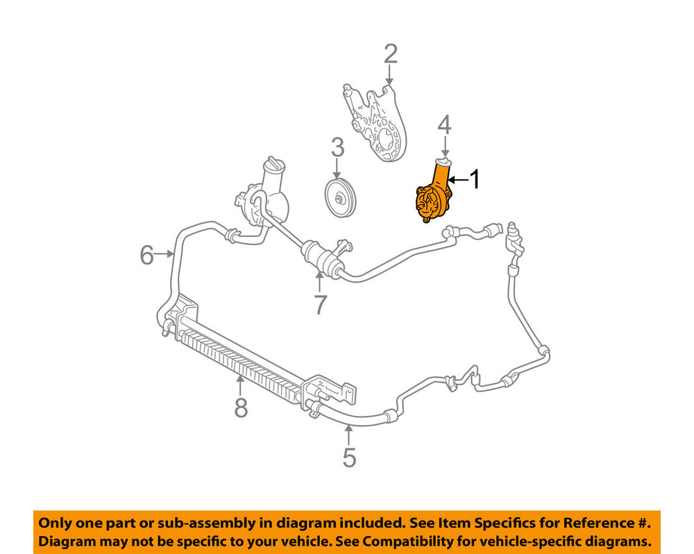 hight resolution of ford oem power steering pump yf1z3a674dbrm ebay ford focus power steering pump diagram ford power steering pump diagram