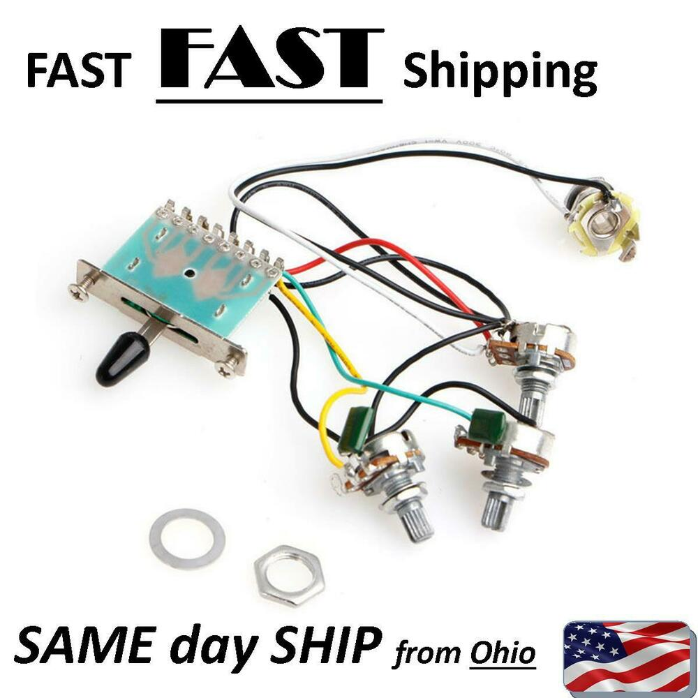 medium resolution of details about strat stratocaster other electric guitar pre wired wiring harness