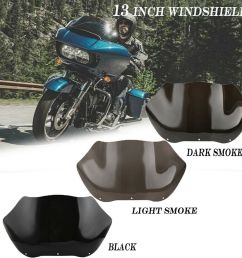 details about smoke 13 tint wave windshield screen for harley road glide fltr fltrx 1998 2013 [ 1000 x 1000 Pixel ]