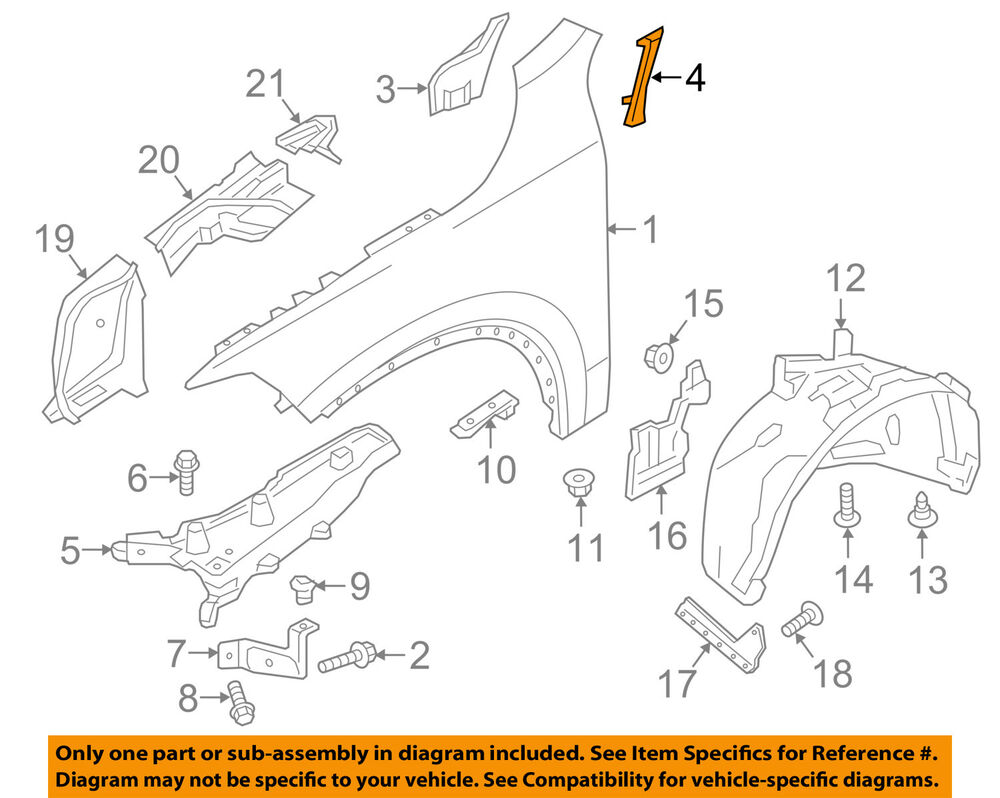 medium resolution of details about volvo oem 16 18 xc90 fender filler left 31391841