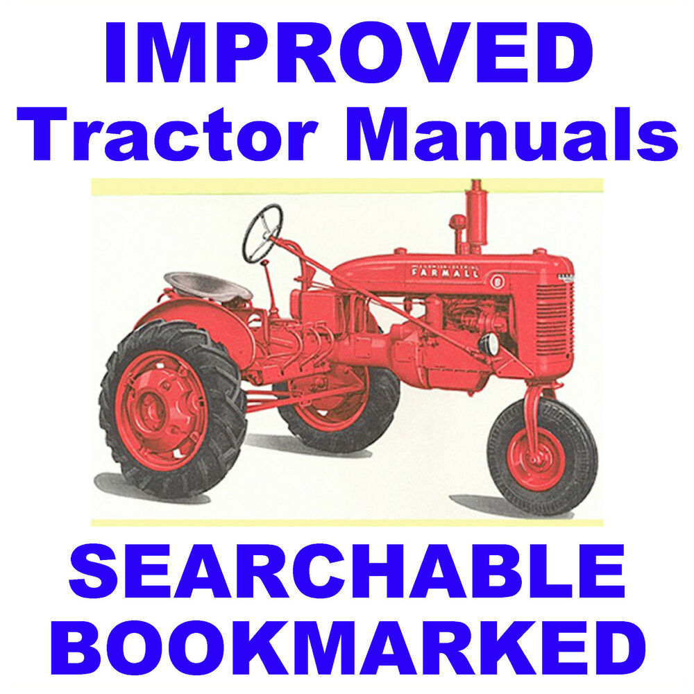 hight resolution of details about mccormick ih farmall b bn service manual parts catalog 2 tractor manuals cd