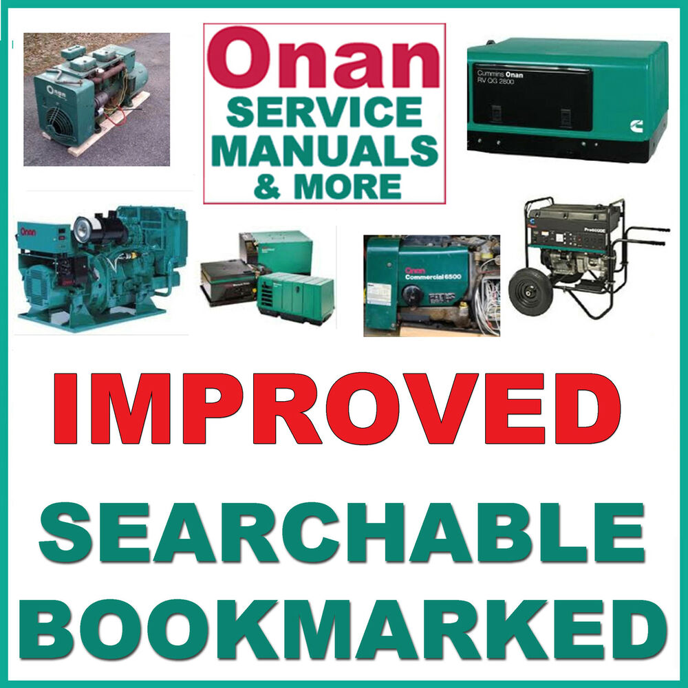 hight resolution of details about onan grca service manual parts catalog installation operators 4 manuals cd