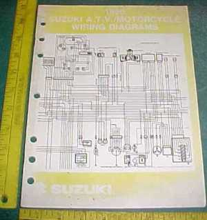 1990 SUZUKI MOTORCYCLE & ATV WIRING DIAGRAM SCHEMATICS | eBay