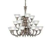 KICHLER ANTIQUE PEWTER 16 LIGHT CHANDELIER | eBay