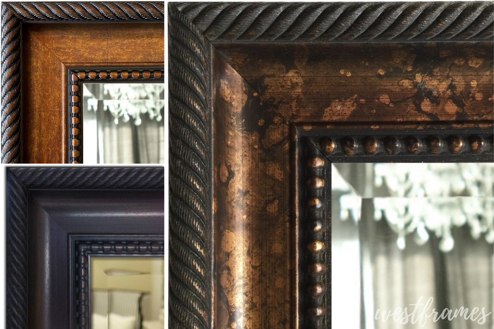 West Frames Santino Aged Bronze Black Accent Framed Wall