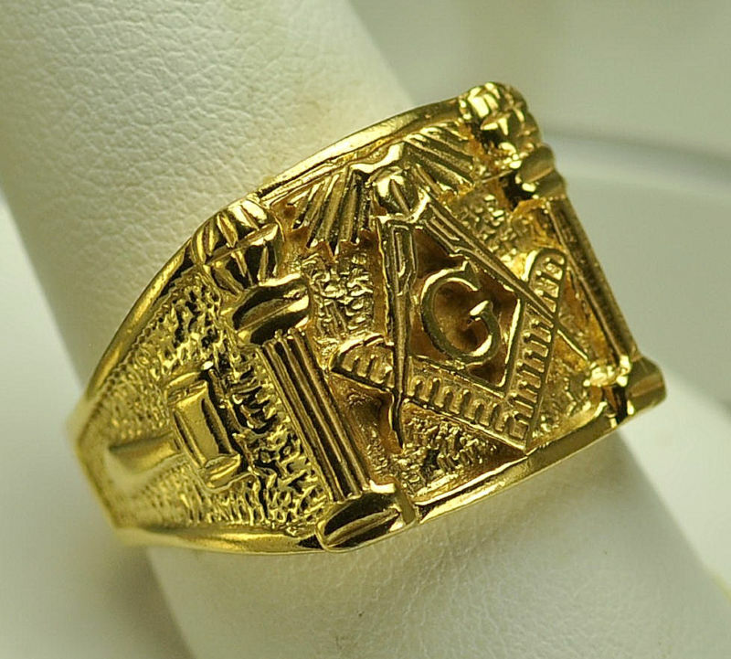 Gold Masonic Rings For Sale