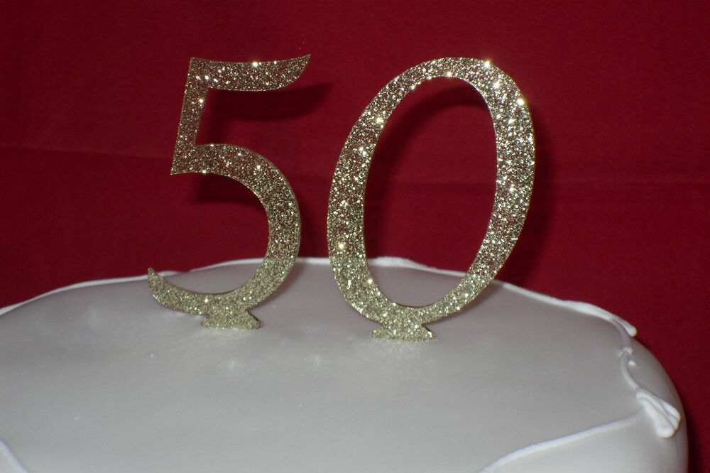 New GLITTER Number Cake Toppers Colours RED Black GOLD