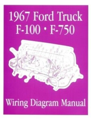 FORD 1967 F100  F750 Truck Wiring Diagram Manual 67 | eBay
