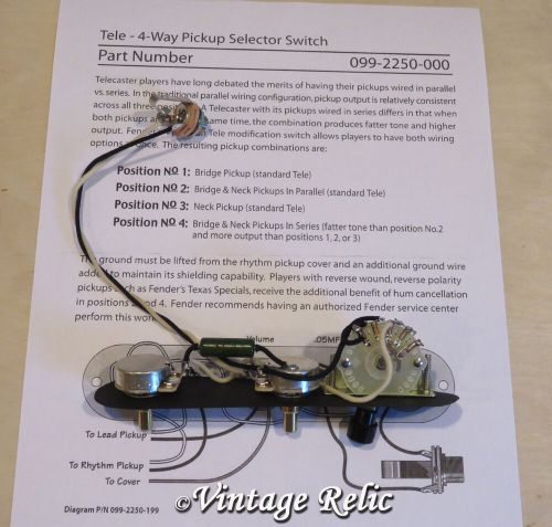 small resolution of tele 4 way upgrade wiring kit pre wired pio cap cts pots fits fender telecaster ebay