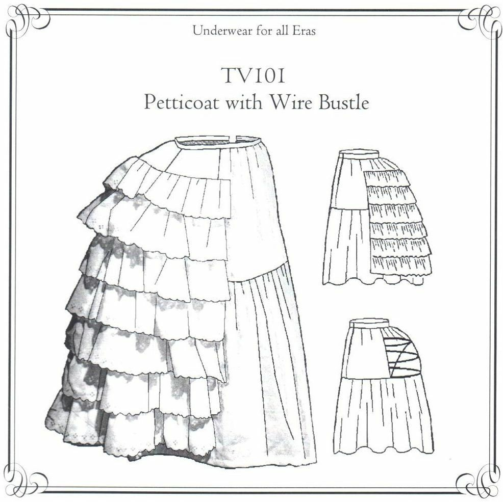 Sewing Pattern for womens Old WEST Wire Bustle with