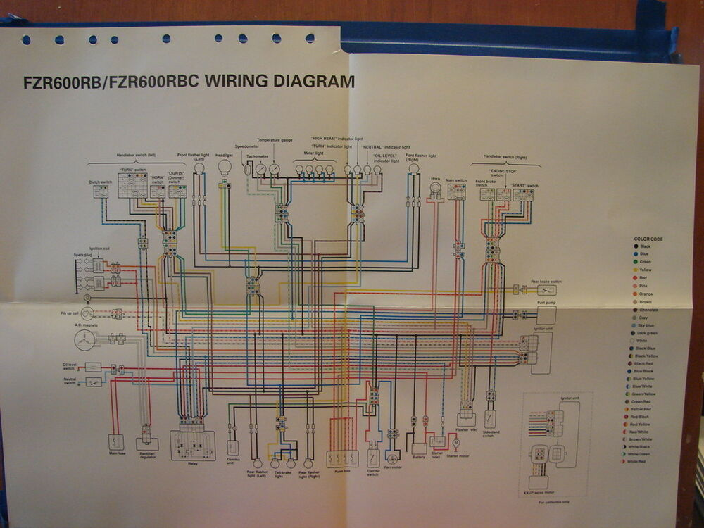 Wiring Diagram On Pinterest Yamaha In Addition Yamaha Fzr 600 Wiring