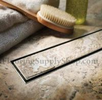 QuARTz by Aco Linear Shower Drain Tile Insert Grate | eBay