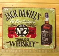 Jack Daniels Whiskey LICENSED TIN SIGN REPRODUCTION metal