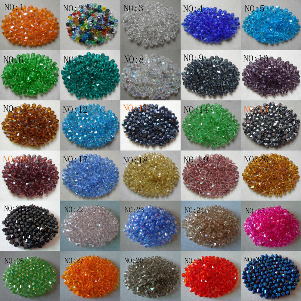 Wholesale 100pcs Glass Crystal Faceted Bicone Lampwork