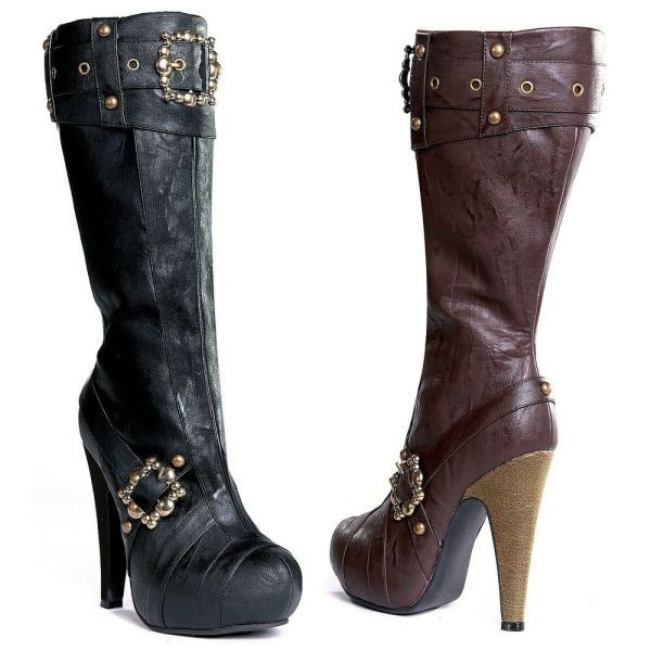 Womens Pirate Boots Adult Steampunk Costume Shoes