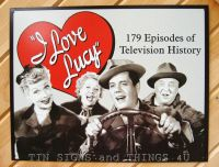I Love Lucy 179 Episodes TIN SIGN funny vtg tv show metal ...