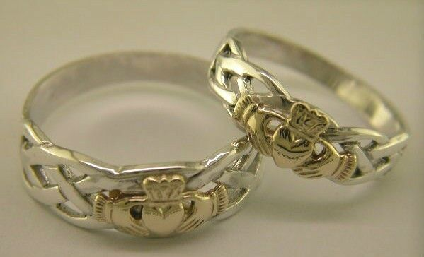 Sterling Silver Amp 14 Carat Gold Irish Handcrafted Claddagh