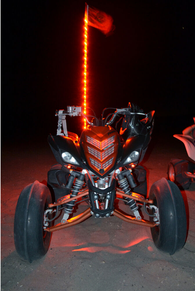 Tribal Whips 6 NightStalker LED Lighted Whip Atv Utv Off