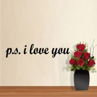 PS P.S. I LOVE YOU Romantic Love Decal Wall Quote ...