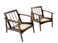 Pair of Danish Mid Century Modern Lounge Chair Frames | eBay