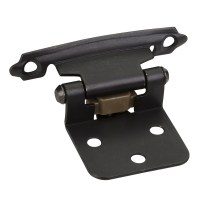 24-Pair- Weathered Black- Flush Cabinet Door Hinges ...