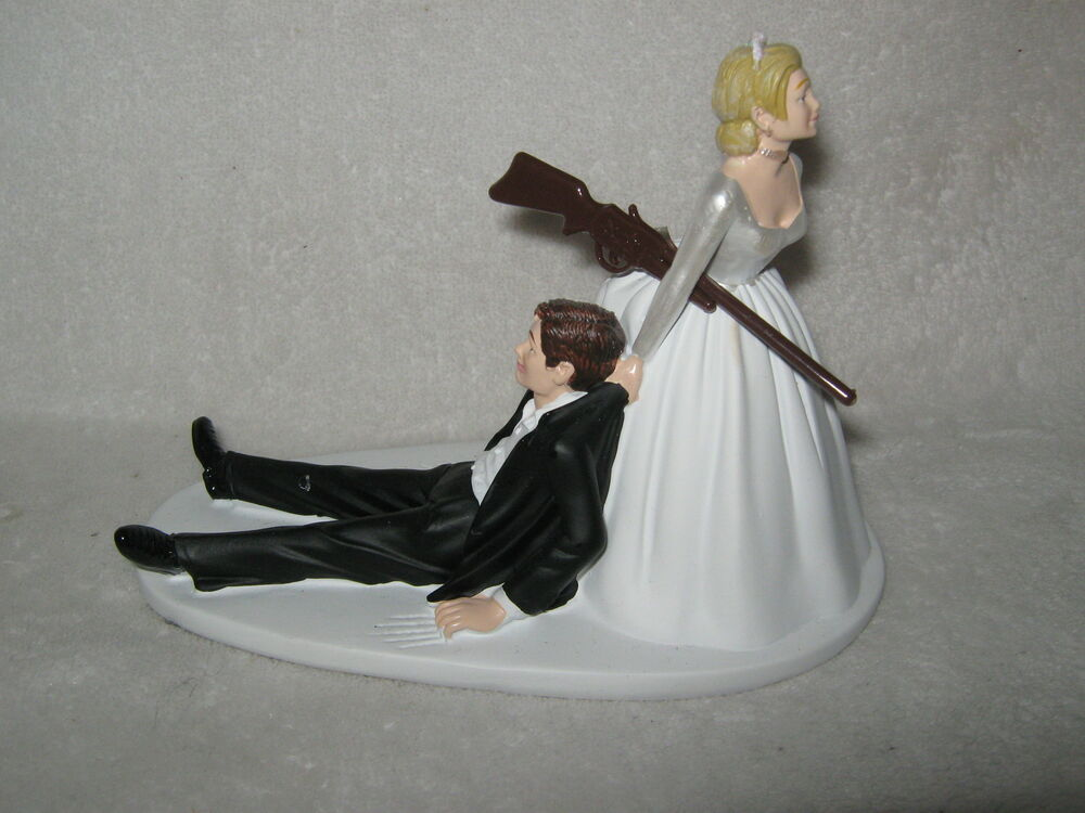 Wedding Reception Party Hunter Hunting Cake Topper Rifle