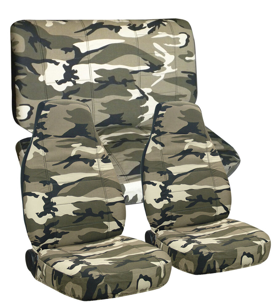 Toyota Tacoma Double Cab Front & Rear Camo Seat Covers