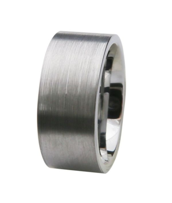 10mm Classic Tungsten Mens Wedding Band Ring Brushed Matte Finish Anniversary