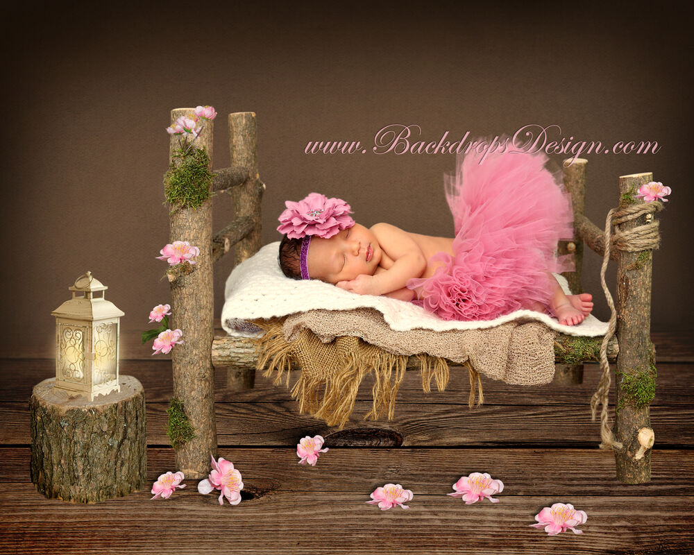Newborn Log Bed Photo Prop Baby Photography Prop Wood Bed Hand Made  eBay