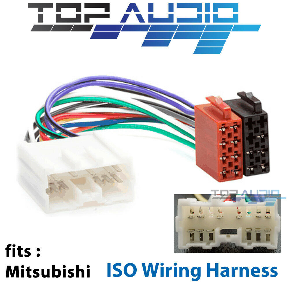 medium resolution of details about mitsubishi challenger 380 lancer iso wiring harness cable connector lead loom