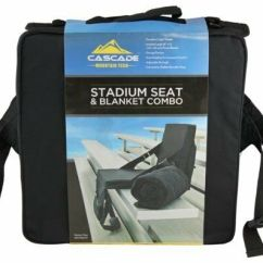 Padded Camping Chair Nautical Cushions With Ties Cascade Stadium Seat Sports Baseball Football Events Soccer | Ebay