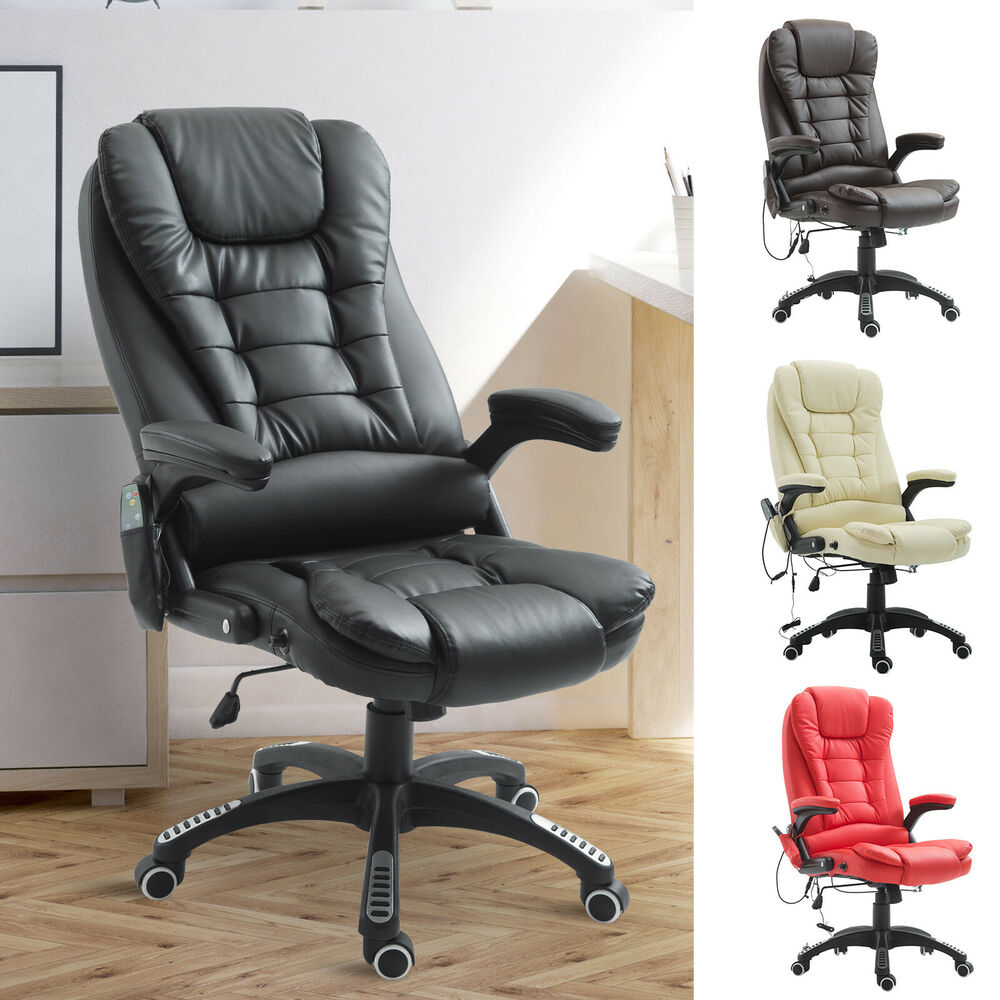 Office Chair Massager Home Office Computer Desk Massage Chair Executive Ergonomic Heated Vibrating Ebay