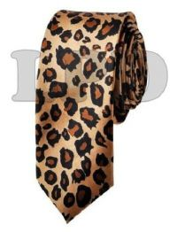 NEW Leopard Spotted Skinny Tie Animal Print NeckTie ...